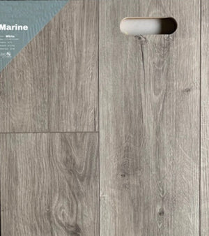 "7.1""48"" Vinyl Tile - Marine White $2.24 Square Feet - Low Price Floor"