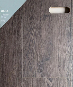 "9""60"" Vinyl Tile - Bella Chetnut $2.84 Square Feet - Low Price Floor"