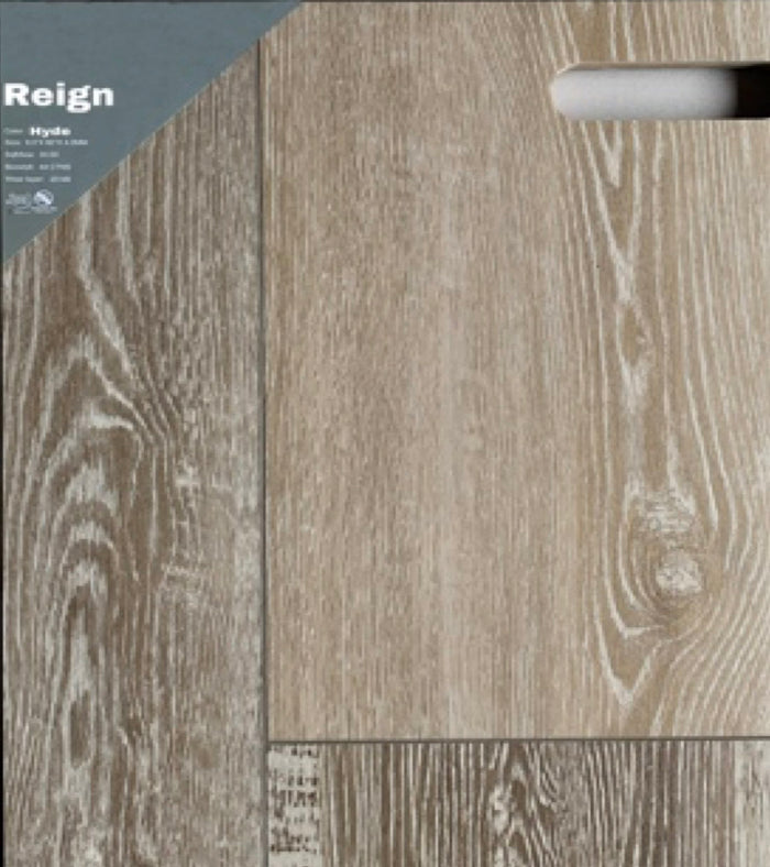 "9""60"" Vinyl Tile- Reign Hyde $2.99 Square Feet"