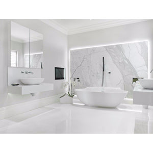 "24""x24"" Polished Super White $1.19 Square Feet - Low Price Floor"