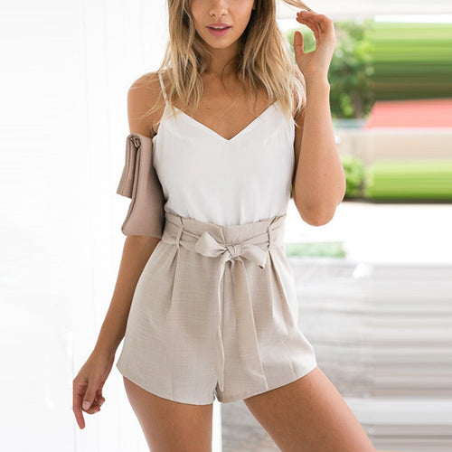 645d493efe3d Fashion Splicing Sleeveless Vacation Romper
