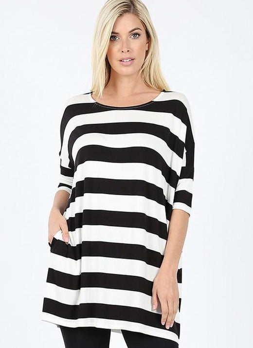 Black/White Striped Shirt RT-1771PS