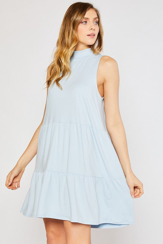 Babydoll Dress-Pale Blue CD1590