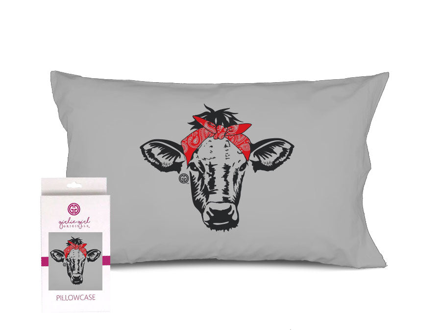 PC-Bandana Cow Pillowcase
