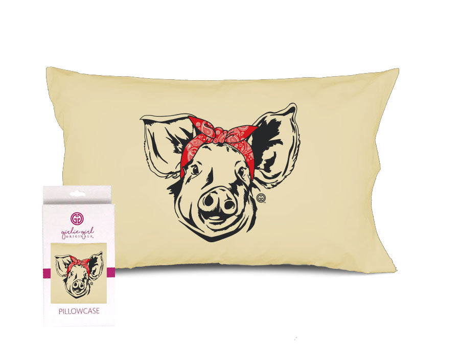 PC-Bandana Pig Pillowcase