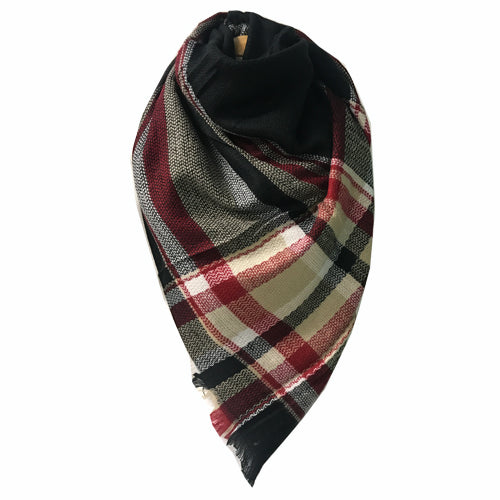 BLANKET SCARF 33 BLACK/TAN