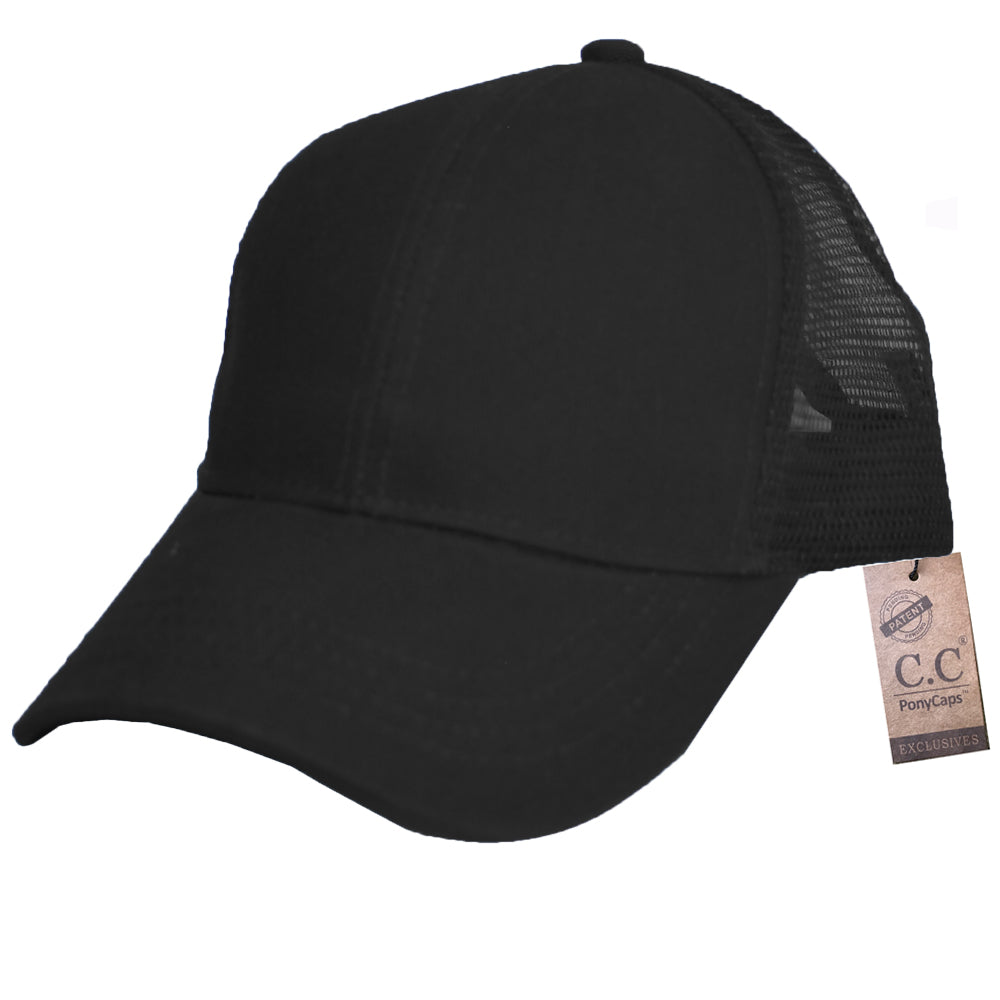 B-4 C.C Pony Caps Black