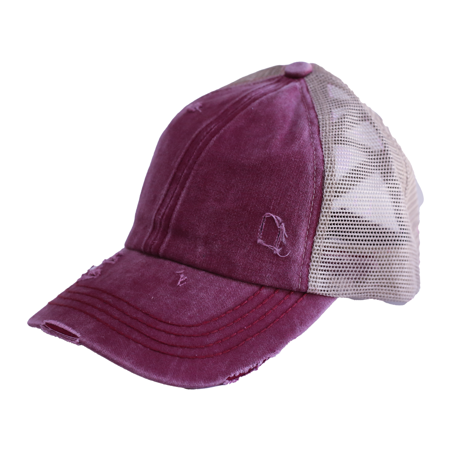 BT-780 C.C Criss Cross Pony Cap BERRY/BIEGE