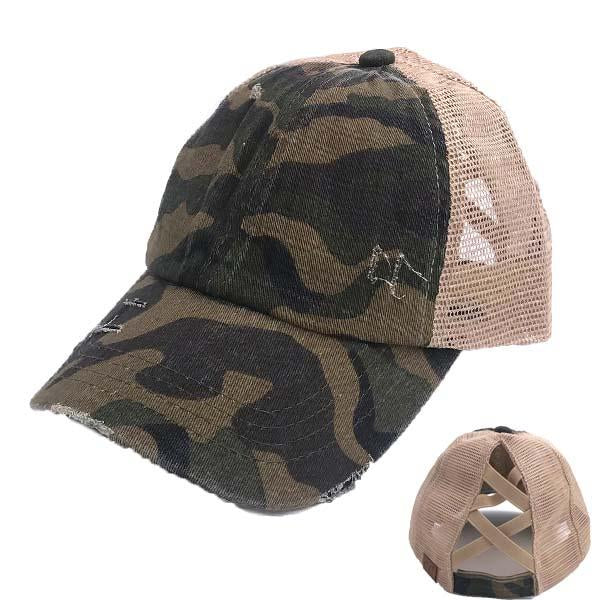 BT-783 C.C Cris Cross Pony Caps Camo