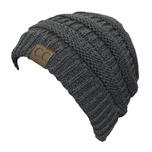 HAT-20A BEANIE DARK MELANGE GREY
