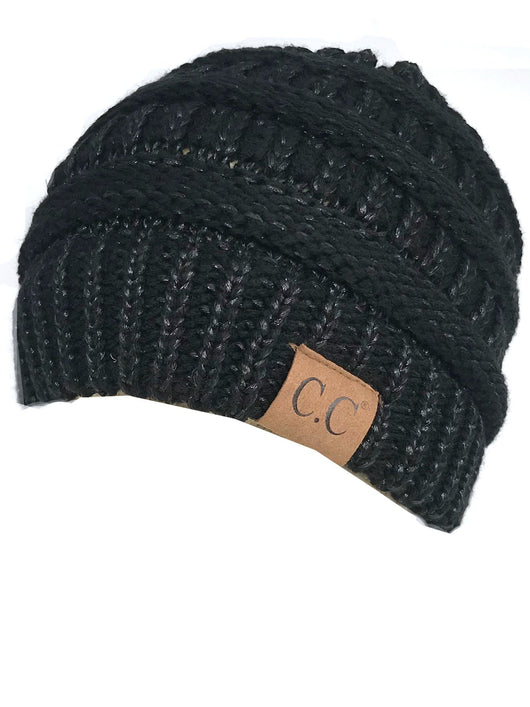 HAT-20A BEANIE METALLIC BLACK BLACK