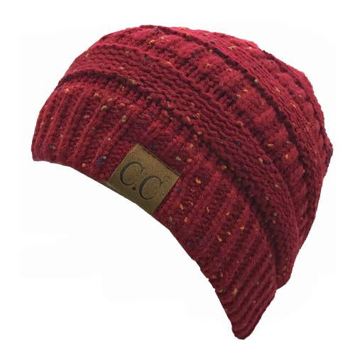 HAT33-Speckled Burgundy