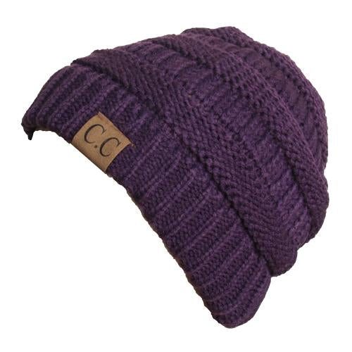 HAT-20A BEANIE DARK PURPLE