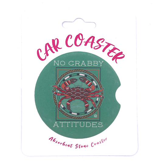 C16 - Car Coaster No Crabby Attitudes