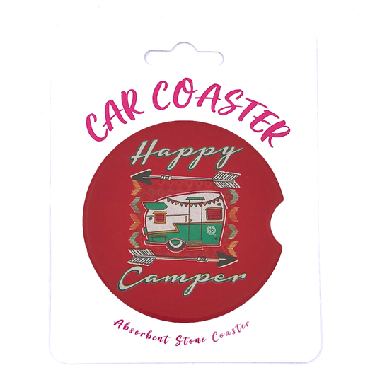 C19 - Car Coaster Happy Camper