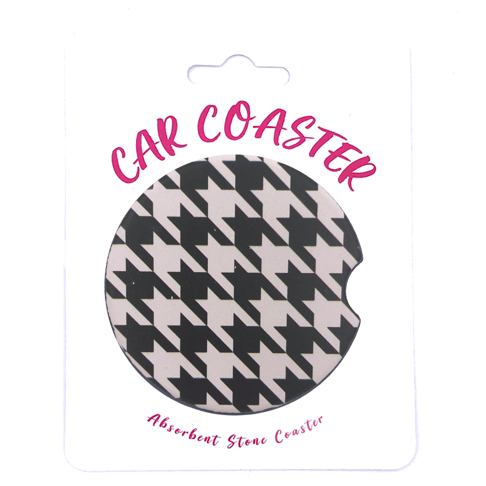 C20 - Car Coaster Houndstooth