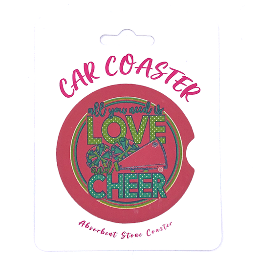 C30 - Car Coaster - Love Cheer