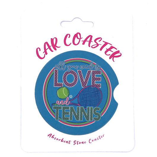 C31 - Car Coaster - Love Tennis