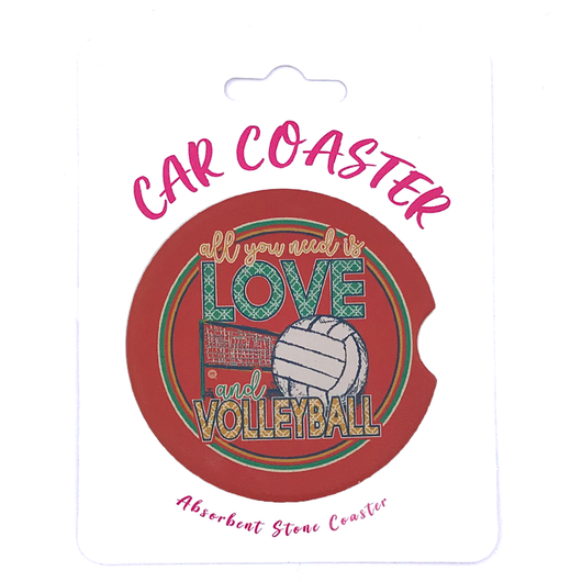 C32 - Car Coaster - Love Volleyball