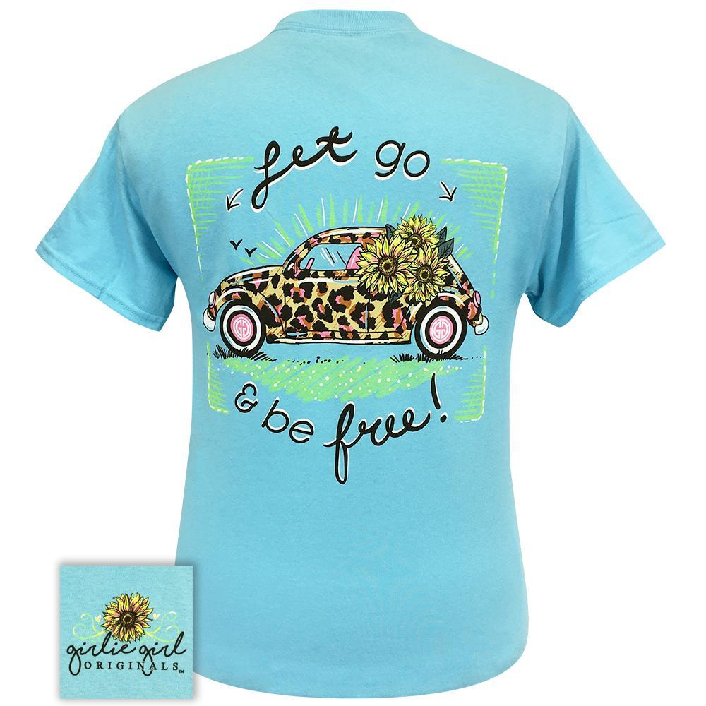 GIRLIE GIRL Leopard Volkswagen Sky Blue 2261 Short Sleeve Tee