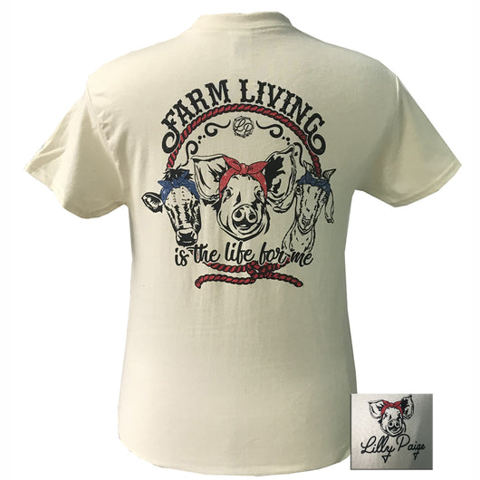 LP-Farm Living Natural Short Sleeve T-Shirt