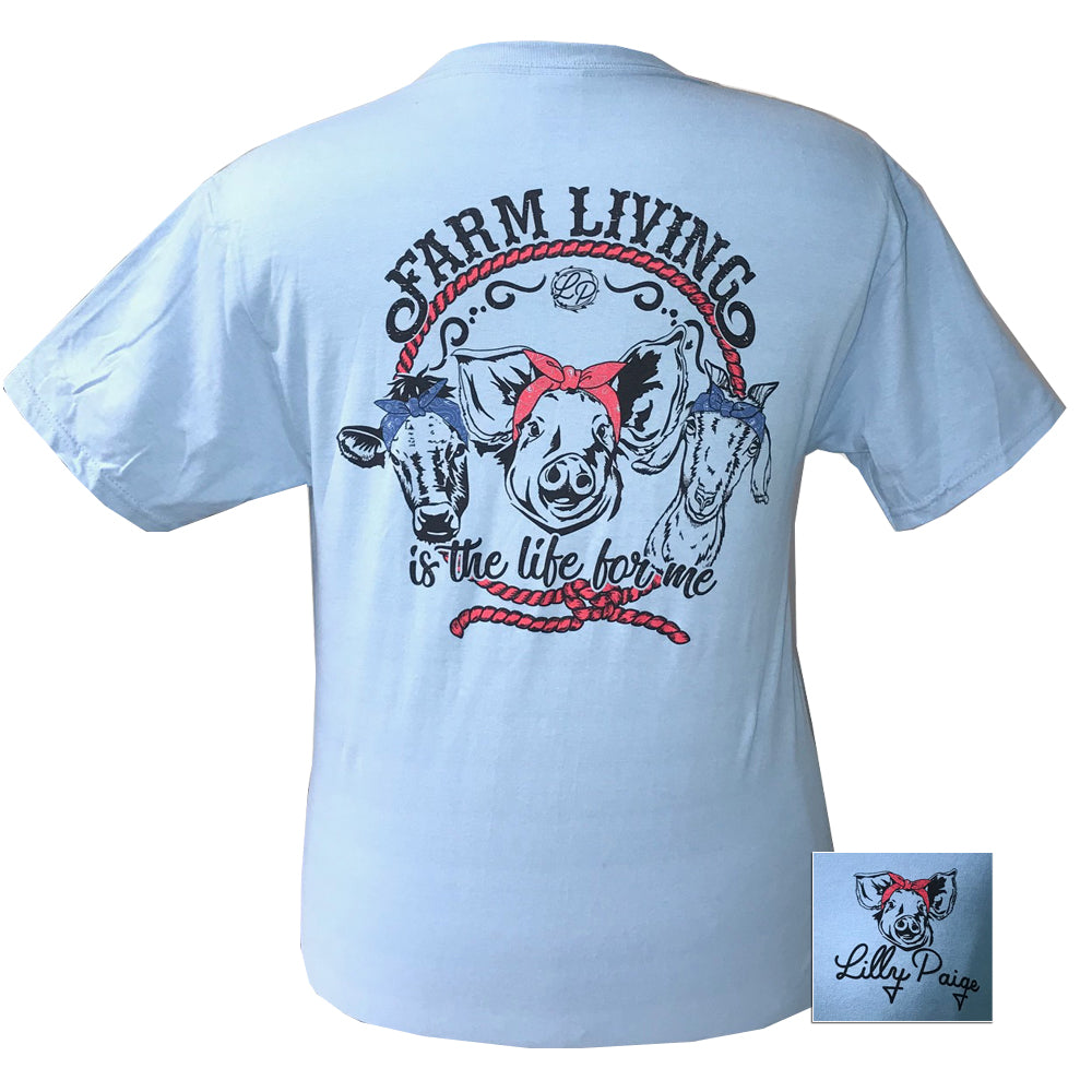 LP-Farm Living Light Blue Short Sleeve T-Shirt