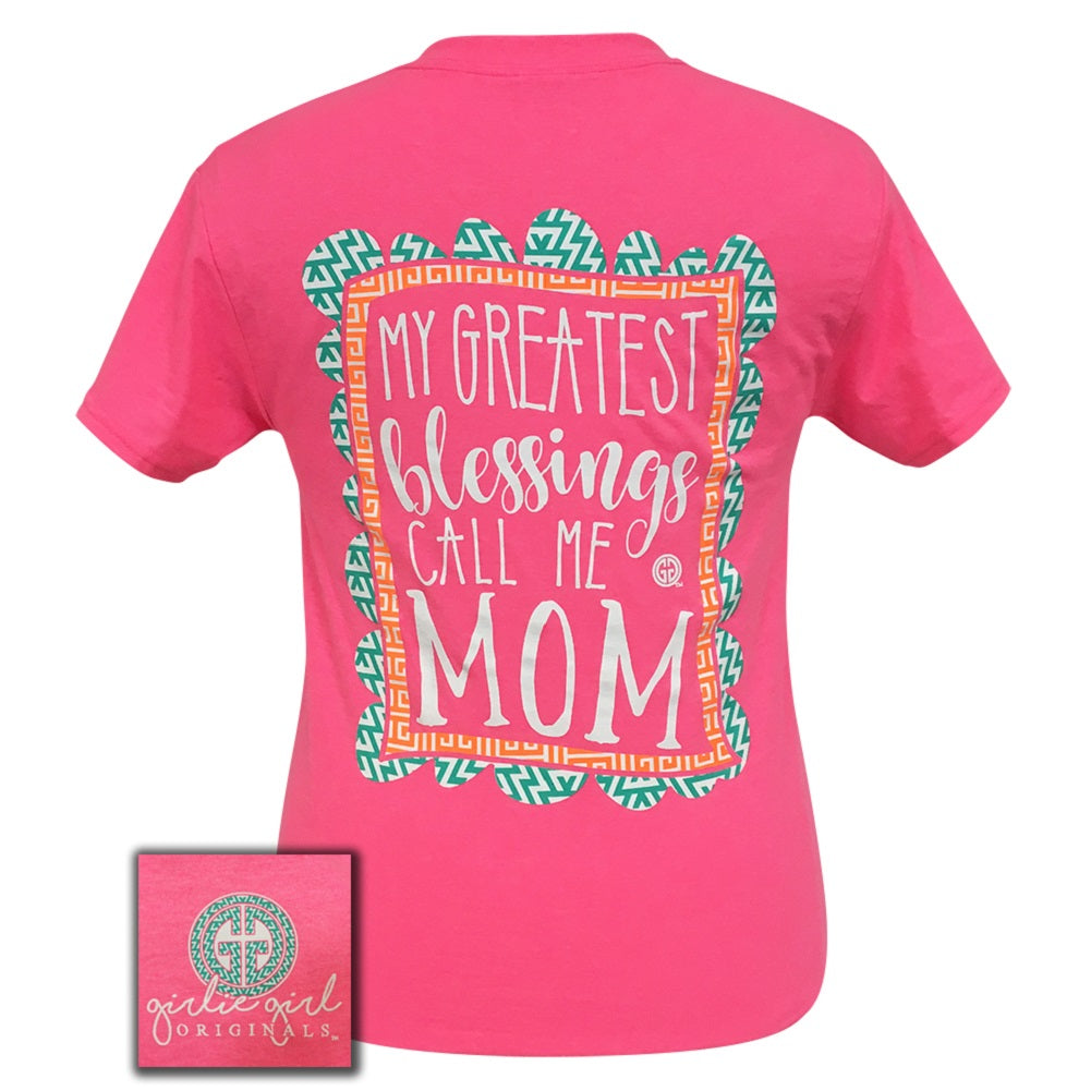 GIRLIE GIRL Greatest Blessings Mom Safety Pink Short Sleeve - 1625