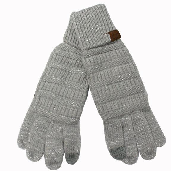 G-20 C.C Metallic Silver Gloves