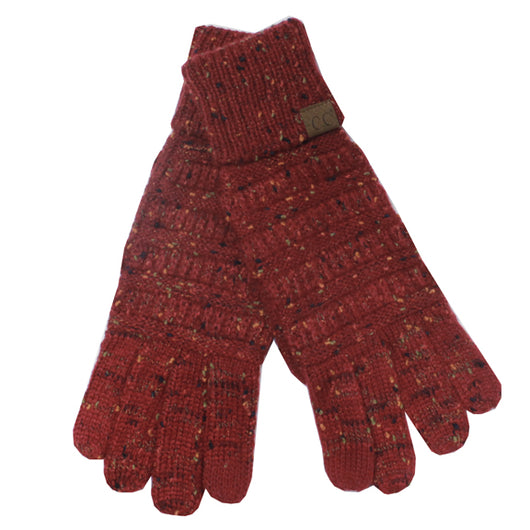 G-33 C.C Burgundy Speckled Gloves