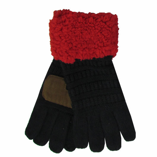 G-88 Sherpa Gloves Black/Red
