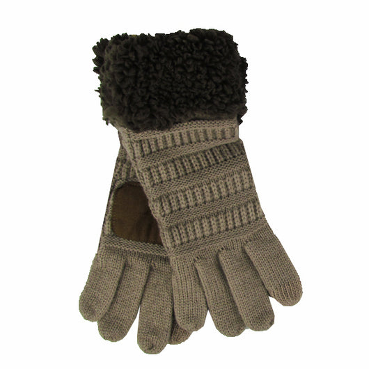G-88 Sherpa Gloves Taupe/Brown
