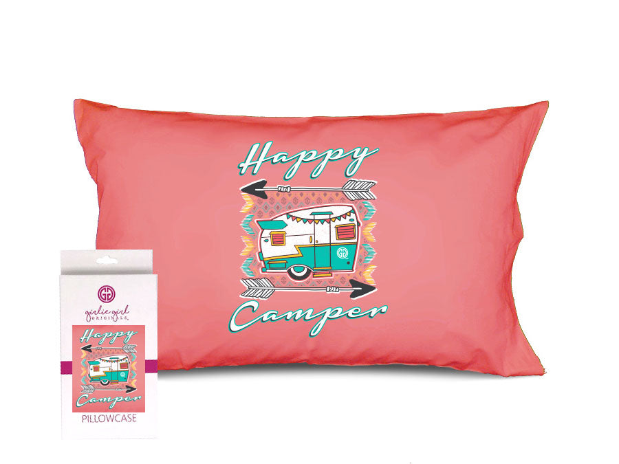 PC-Happy Camper Pillowcase
