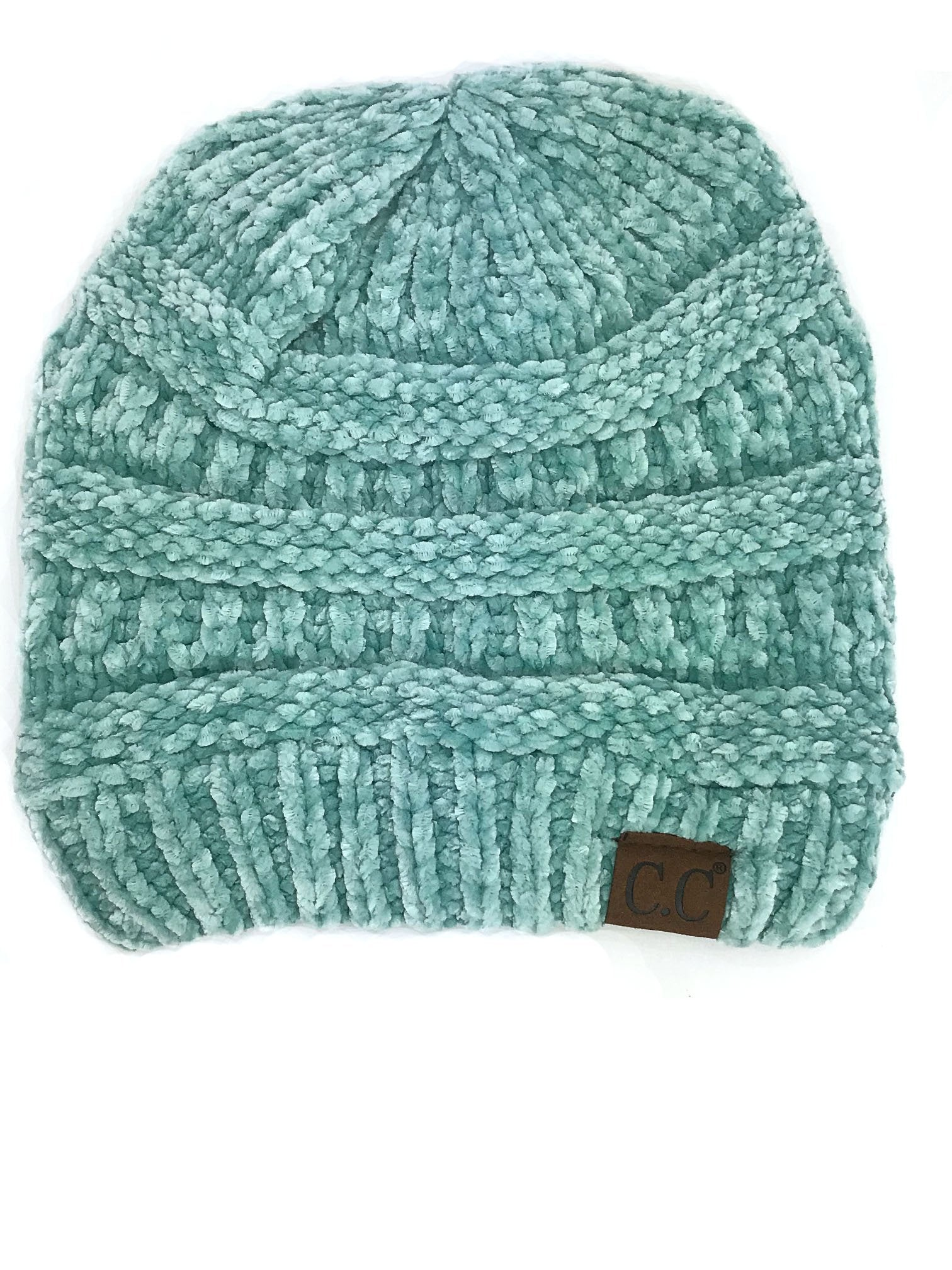 Hat-30 MINT VELOUR BEANIE