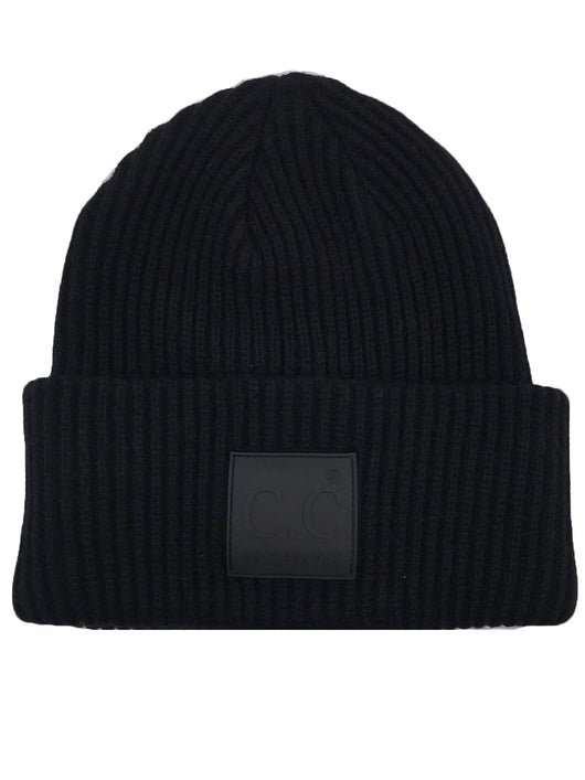 HAT-7007 Beanie with Rubber Patch Black