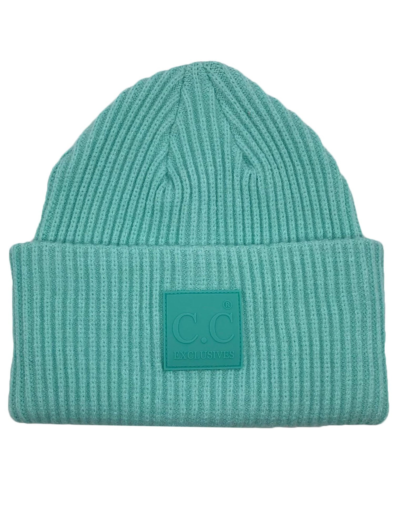 HAT-7007 Beanie with Rubber Patch Mint Green