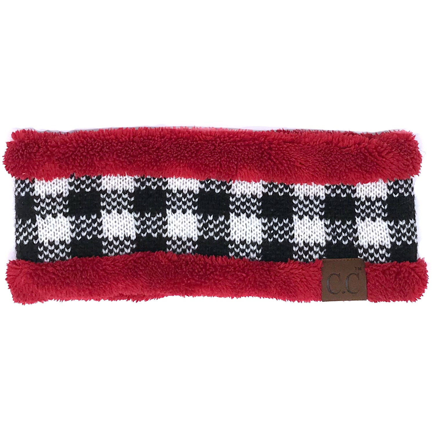 HW-17 BUFFALO PLAID RED WHITE/BLACK