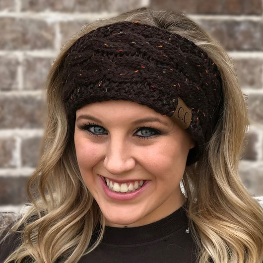 HW-33 BROWN SPECKLED HEADWRAP
