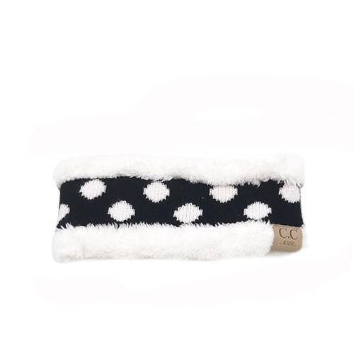 PD-HW-21 KIDS  HEADWRAP Black White