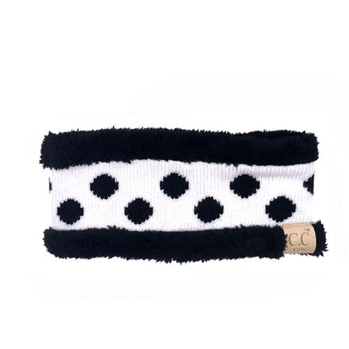 PD-HW-21 KIDS  HEADWRAP White/Black