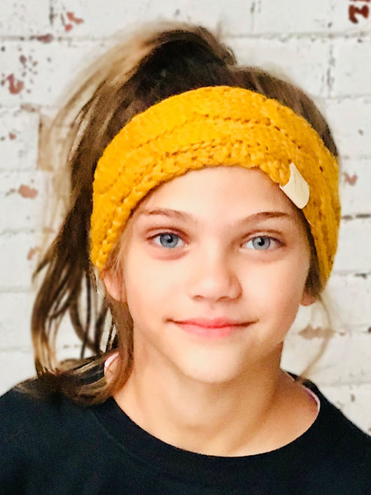 HW-20-KIDS MUSTARD HEADWRAP
