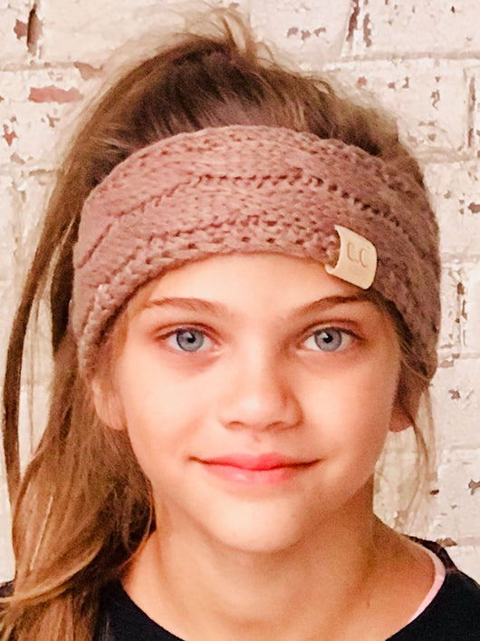 HW-20-KIDS TAUPE HEADWRAP