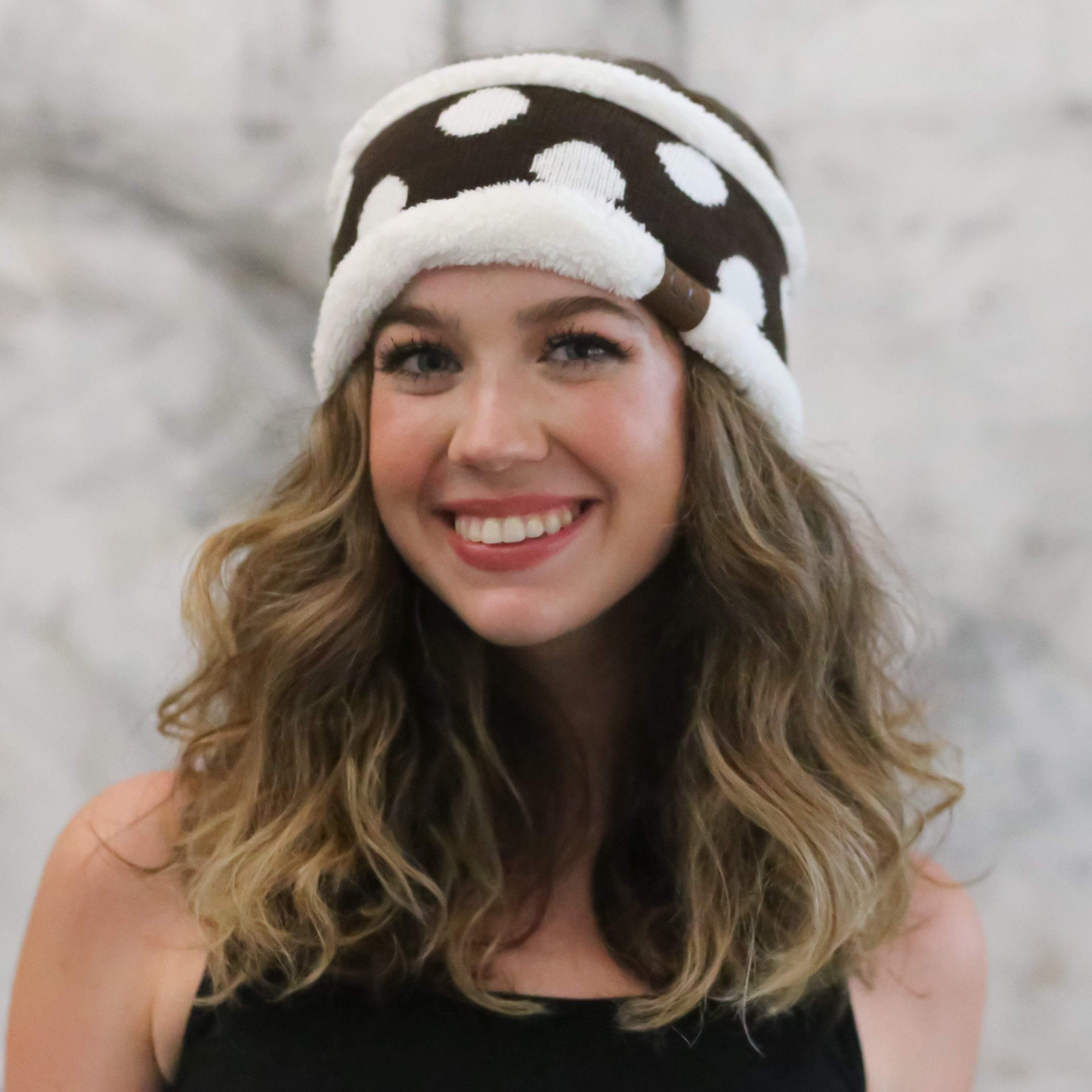 PD-HW-21 HEADWRAP BROWN/WHITE
