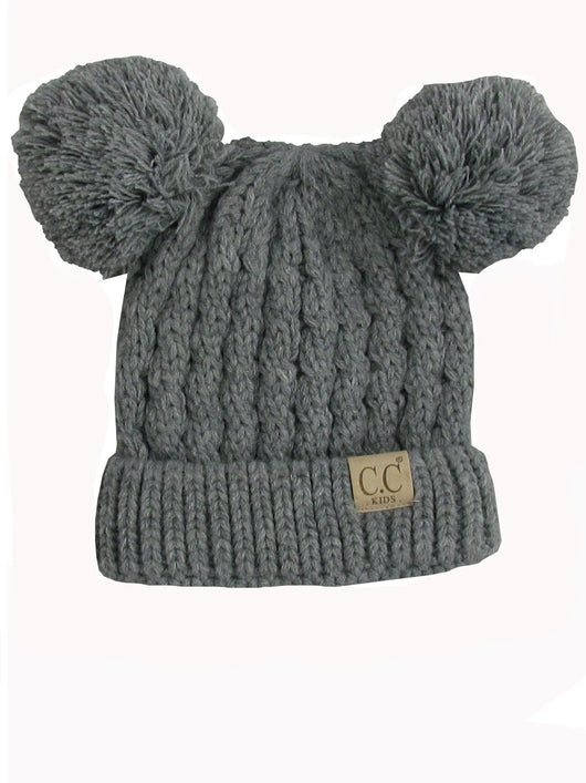 C.C Kid-24 Light Melange Grey Youth Beanie