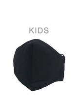 KIDS MASK SOLID BLACK