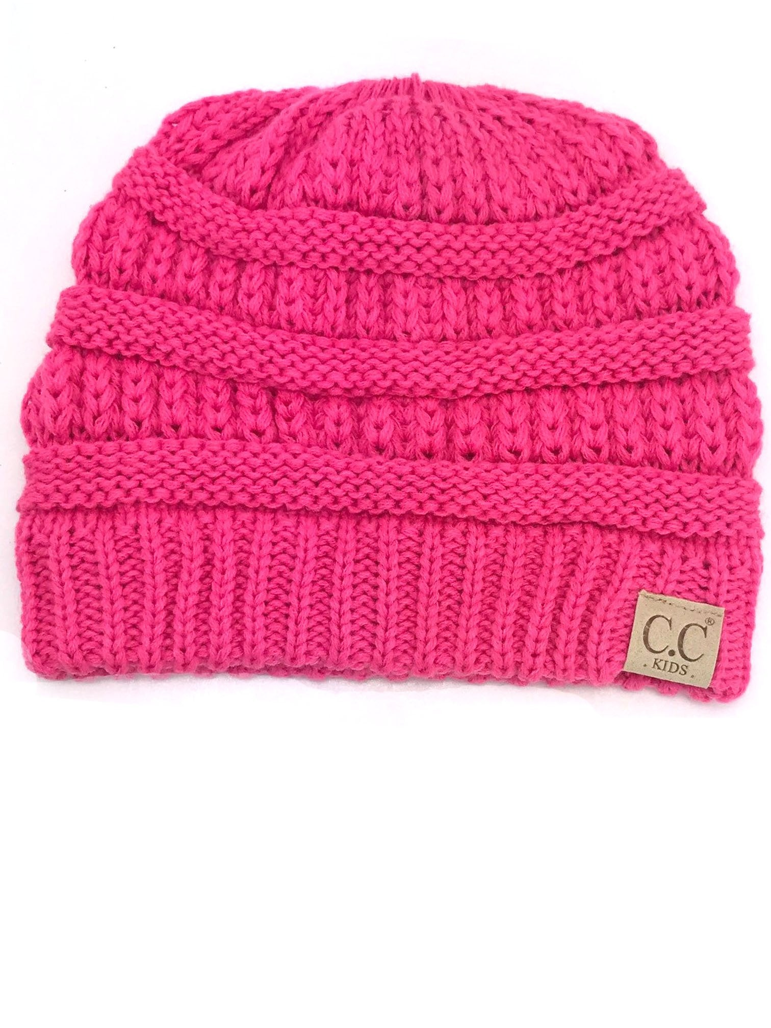 YJ847 New Candy Pink Kid Beanie