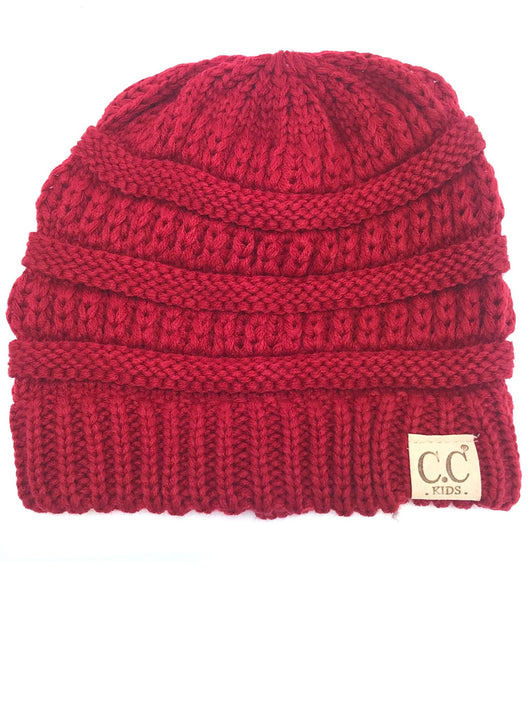 YJ847 Red Kid Beanie