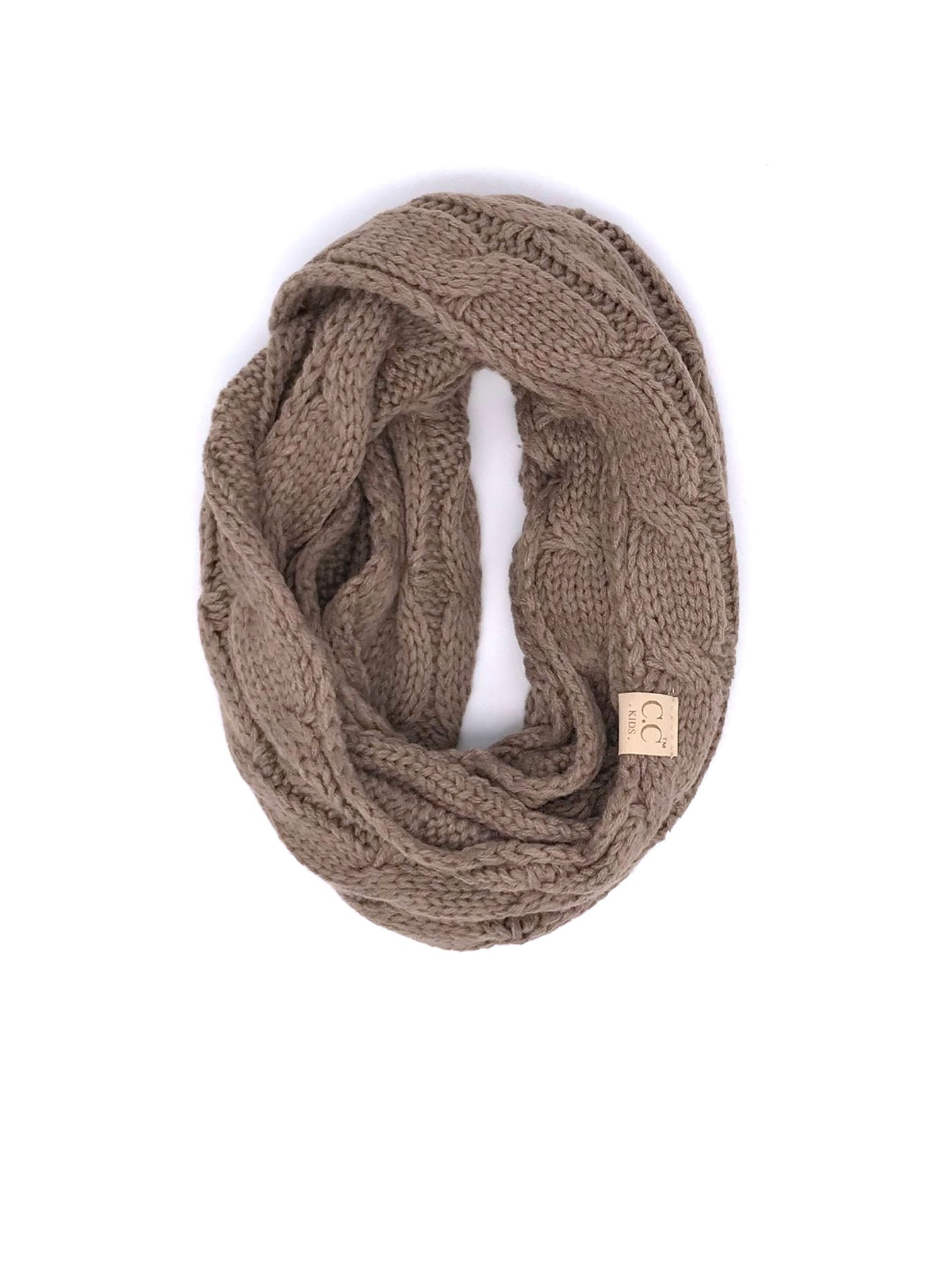 SF800KIDS-TAUPE INFINITY SCARF