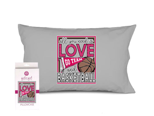 PC-Love Basketball Grey Pillowcase