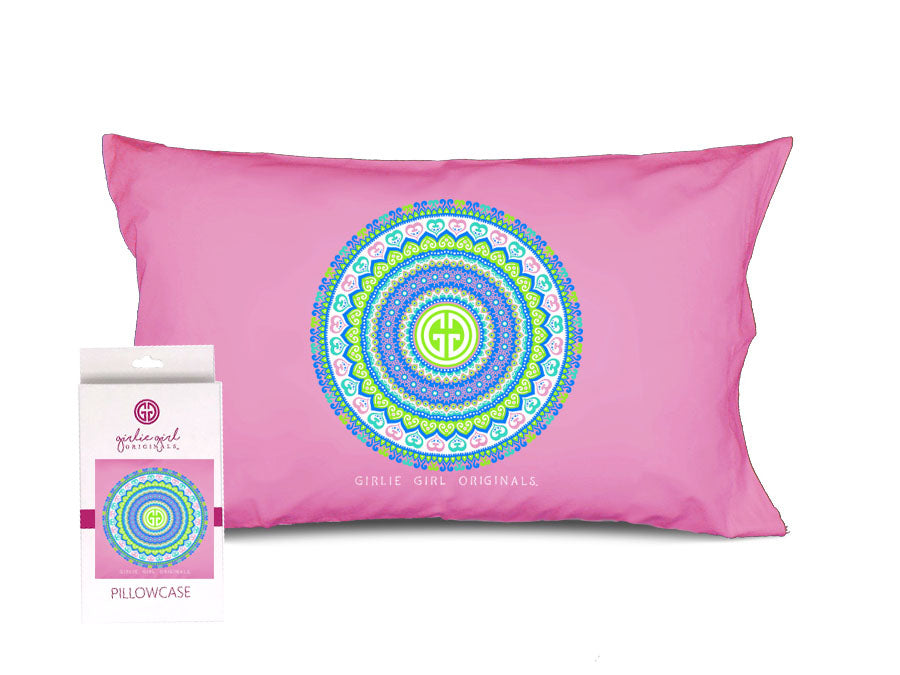 PC-Pink Mandala Pillowcase