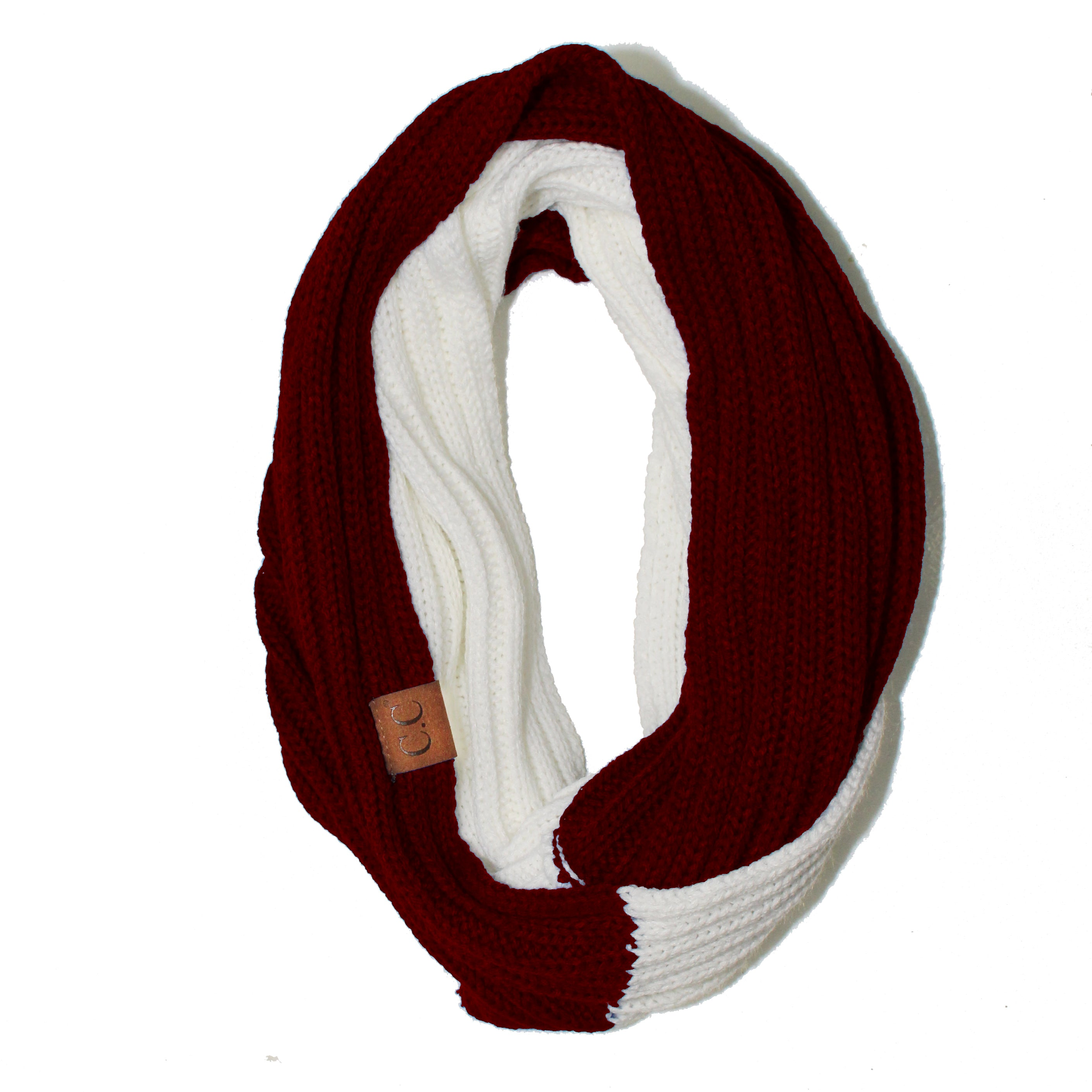 SF-56 Maroon and White Team Infinty Scarf